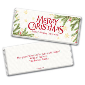 Personalized Christmas Spirited Christmas Chocolate Bar & Wrapper