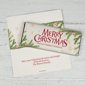 Personalized Christmas Spirited Christmas Chocolate Bar Wrappers