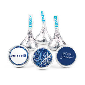 Personalized Christmas Ribbons Hershey's Kisses (50 pack)