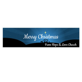 Personalized Christmas O Holy Night 5 Ft. Banner