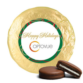 Personalized Christmas Swirls Chocolate Covered Oreos