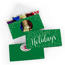 Deluxe Personalized Happy Holidays Roca Chocolate in Gift Box