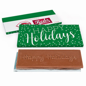 Deluxe Personalized Christmas Simply Holidays Chocolate Bar in Gift Box