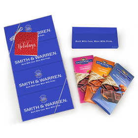 Personalized Happy Holidays Ghirardelli Gift Pack (4 Ghirardelli Bars)