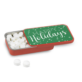 Personalized Christmas Simply Holidays Mint Tin (12 Pack)