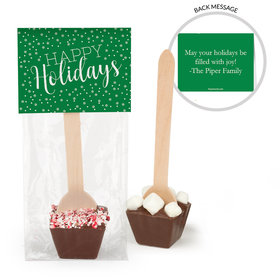 Personalized Happy Holidays Hot Chocolate Spoon