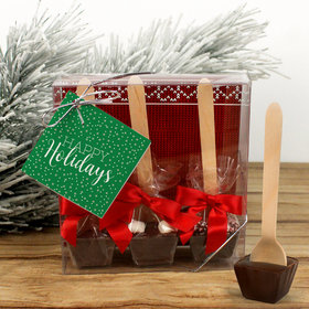 Personalized Simply Holidays Hot Coco Hot Chocolate Spoon 3pk