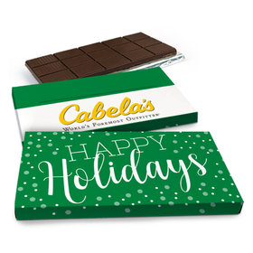 Deluxe Personalized Christmas Simply Holidays Chocolate Bar in Gift Box (3oz Bar)