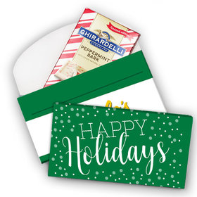Deluxe Personalized Christmas Simply Holidays Add Your Logo Ghirardelli Chocolate Bar in Gift Box (3.5oz)