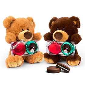 Personalized Santa Teddy Bear with Chocolate Covered Oreo 2pk