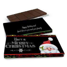 Deluxe Personalized Christmas Chalkboard Santa Chocolate Bar in Gift Box (3oz Bar)