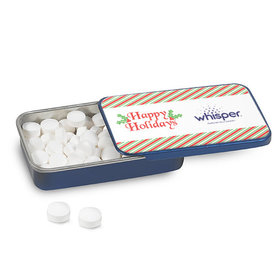 Personalized Christmas Holiday Stripes Mint Tin (12 Pack)