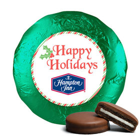 Personalized Christmas Stripes Chocolate Covered Oreos