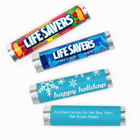 Personalized Christmas Snowflakes Lifesavers Rolls (20 Rolls)