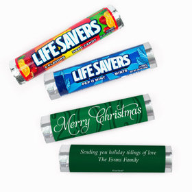Personalized Merry Christmas Lifesavers Rolls (20 Rolls)
