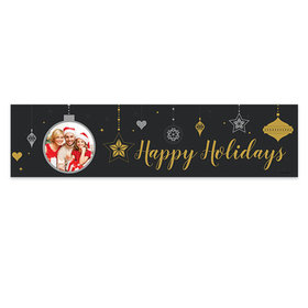 Personalized Christmas Once Upon a Holiday 5 Ft. Banner