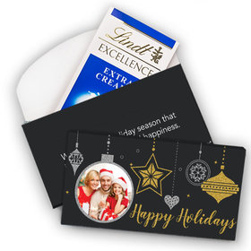 Deluxe Personalized Once Upon a Holiday Photo Lindt Chocolate Bar in Gift Box (3.5oz)