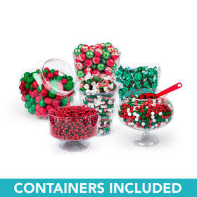 Merry Christmas Deluxe Candy Buffet - Containers Included