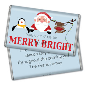 Personalized Christmas Merry Bright & Cute 1lb Hershey's Chocolate Bar