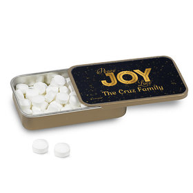 Personalized Christmas Peace Joy & Love Mint Tin (12 Pack)