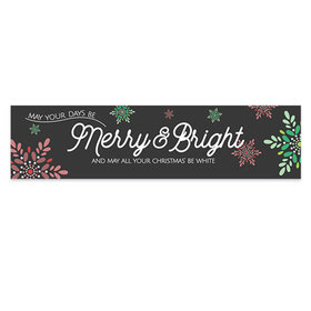 Personalized Christmas Merry & Bright 5 Ft. Banner