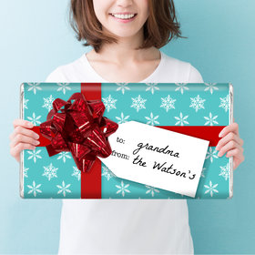 Personalized Christmas Wrapped Present Giant 5lb Hershey's Chocolate Bar