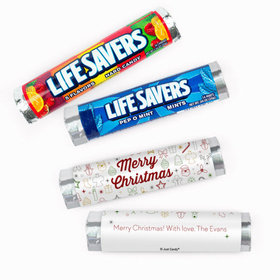 Personalized Christmas Doodles Lifesavers Rolls (20 Rolls)