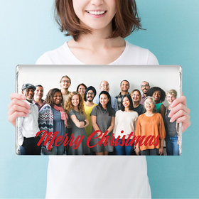 Personalized Happy Holidays Add Your Photo Giant 5lb Hershey's Chocolate Bar