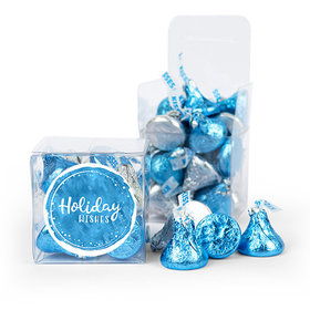 Holiday Wishes Hershey's Kisses Clear Gift Box