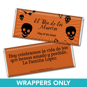 Day of the Dead Personalized Chocolate Bar Wrapper Day of the Dead Sweets
