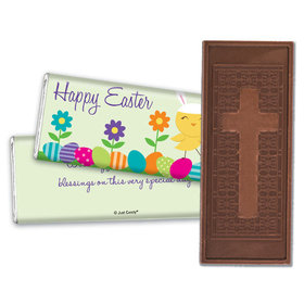 Personalized Easter Embossed Chocolate Bar Bunny and Egg Hunt