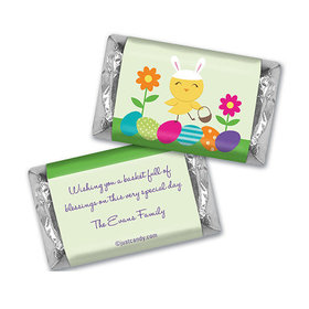 Easter Personalized Hershey's Miniatures Wrappers Bunny and Egg Hunt