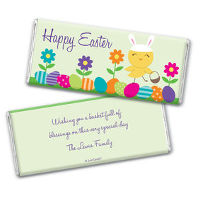 Easter Personalized Chocolate Bar Wrappers Bunny and Egg Hunt