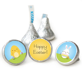 """Easter 3/4"""" Sticker Bunny and Chick Peeps (108 Stickers)"""