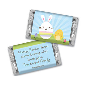 Easter Personalized Hershey's Miniatures Wrappers Bunny and Chick Peeps