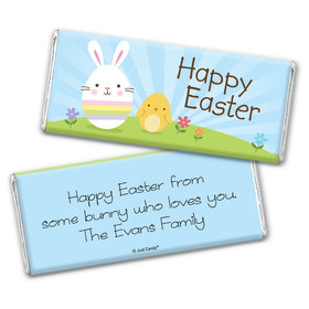 Easter Personalized Chocolate Bar Wrappers Bunny and Chick Peeps