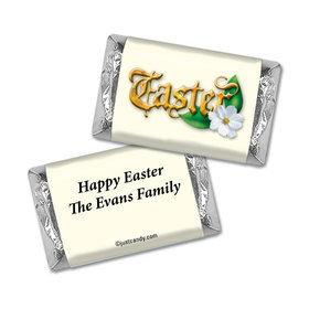 Easter Personalized Hershey's Miniatures Wrappers Gold Easter