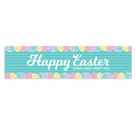 Personalized Easter Chevron Egg Banner