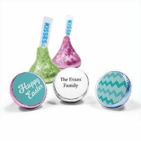 """Personalized Easter Chevron Egg 3/4"""" Sticker (108 Stickers)"""
