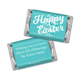 Personalized Easter Chevron Egg Hershey's Miniatures
