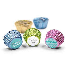Personalized Easter Chevron Egg Spring Mix Reese's (50 Pack)