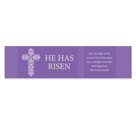 Personalized Easter Purple Cross 5 Ft. Banner