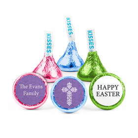 Personalized Easter Purple Cross Hershey's Kisses (50 Pack)