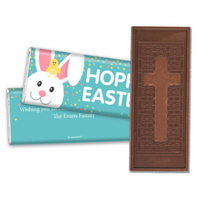 Personalized Easter Blue Chick Embossed Chocolate Bar & Wrapper