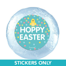 "Easter Blue Chick 1.25"" Stickers (48 Stickers)"