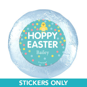 "Personalized Easter Blue Chick 1.25"" Stickers (48 Stickers)"