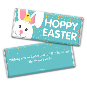 Personalized Easter Blue Chick Chocolate Bar & Wrapper
