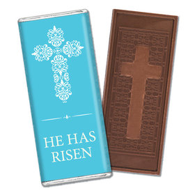 Personalized Easter Blue Cross Embossed Cross Chocolate Bar