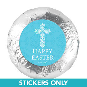 "Easter Blue Cross 1.25"" Stickers (48 Stickers)"