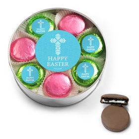 Easter Blue Cross Belgian Chocolate Covered Oreo Cookies Extra-Large Plastic Tin